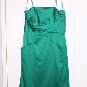 Max and Cleo emerald green cocktail dress w pocket